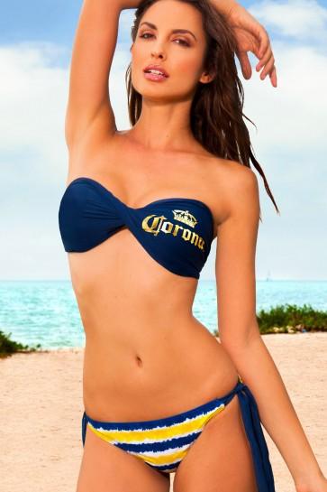 Corona Extra Strapless Bikini Set Boozingear Com