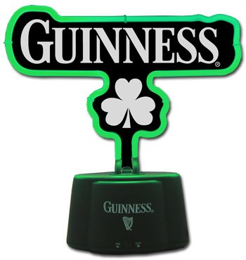 Guinness Neon Green Shamrock Light