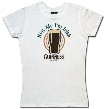Guinness Kiss Me Babydoll Shirt