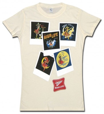 Miller High Life Polaroids Women's Babydoll Shirt