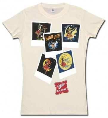 Miller High Life Polaroids Women's Babydoll Shirt