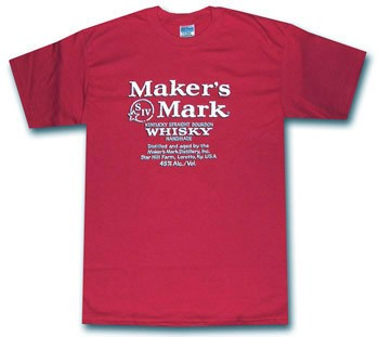 Maker's Mark Classic Label Red T Shirt