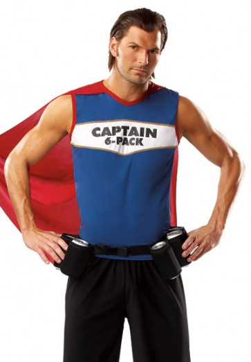 Captain 6 Pack Costume Fun Beer Costume