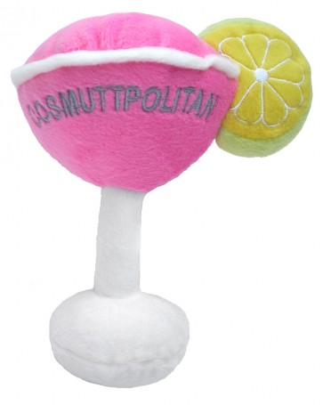 Cosmuttpolitan Martini Dog Toy : Plush Squeaker