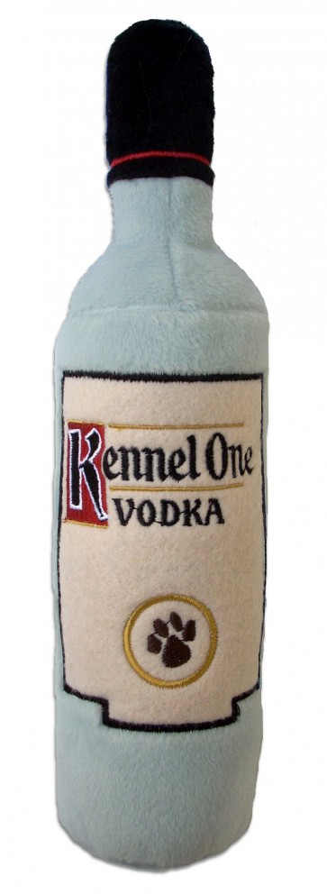Kennel One Vodka Dog Toy Plush Dog Squeaker Toy