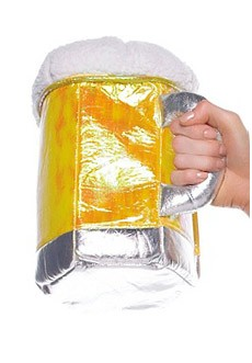 Beer Purse : Womens Gold Beer Stein