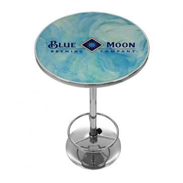 Blue Moon Blue Swirls Bar Table