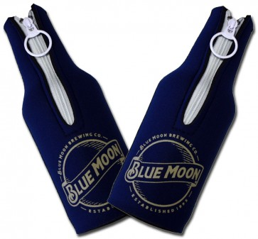 Blue Moon Navy Bottle Coozie Set