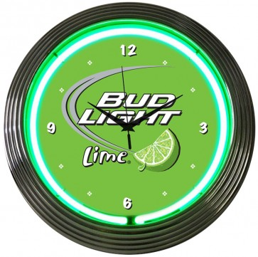 Bud Light Lime Neon Green Clock