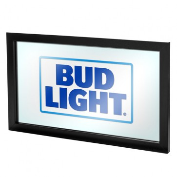 Bud Light Square Logo Bar Mirror