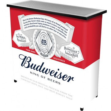 Budweiser Two Shelf Portable Bar