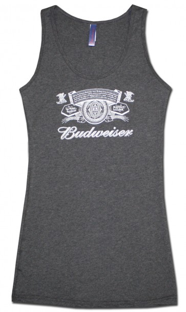 Budweiser Women's Grey Tank Top