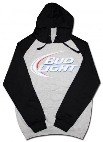 Bud Light Swoosh Hoody W Beer Pouch Boozingear Com