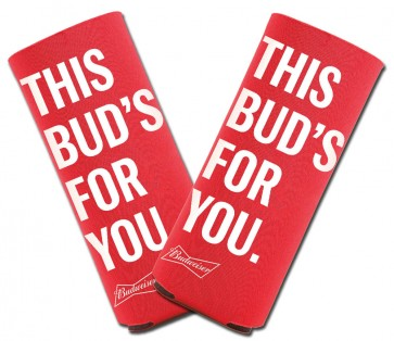 Budweiser 16oz Alum Bottle Coozie Set