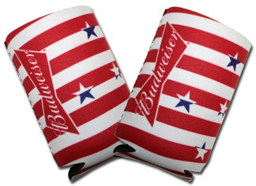 Budweiser Stars Collapsible Koozie Set