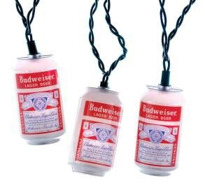 Budweiser Vintage Holiday String Lights