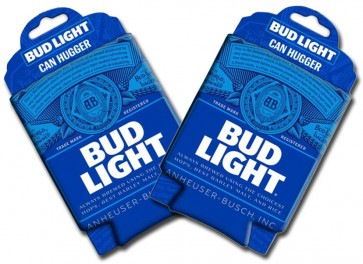 Bud Light Can Trademark Collapsible Coozie Set