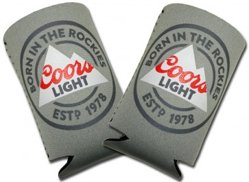 Coors Light Grey Collpasible Koozie Set