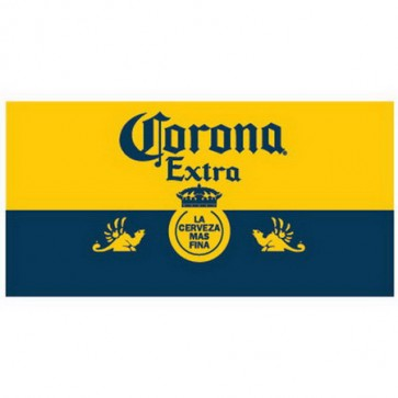 Corona Extra Blue & Gold Beach Towel