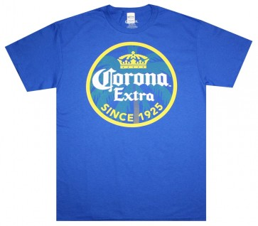 Corona Extra Royal Blue Stamp T Shirt
