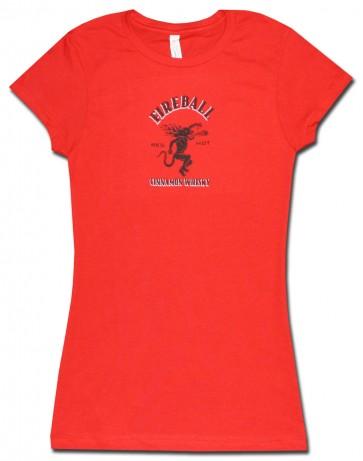 Fireball Whisky Red Women's Babydoll Shirt