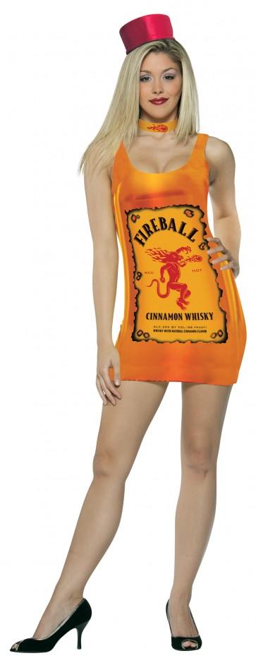 Fireball Whisky Ladies Tank Top Costume