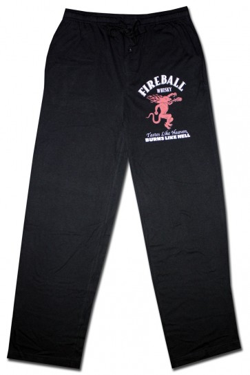 Fireball Whisky Black Lounge Pants