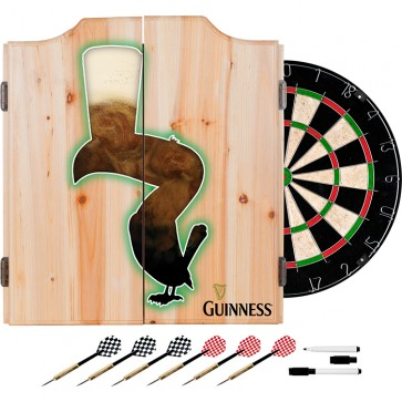 Guinness Foaming Toucan Dart Set w/ Cabinet