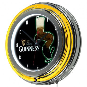 Guinness Foaming Pint Neon Clock