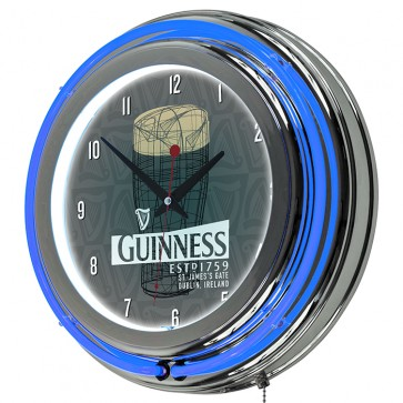 Guinness Beer Pint Art Neon Clock
