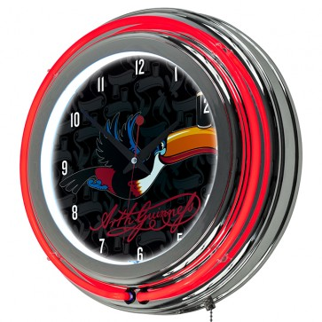 Guinness Flying Toucan Neon Clock