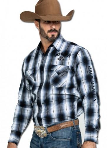 Jack Daniel's Plaid Button Down Western Shirt