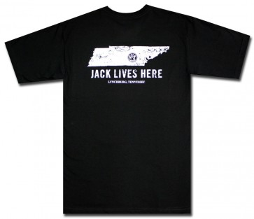 Jack Daniel's Lives Here Distressed T Shirt