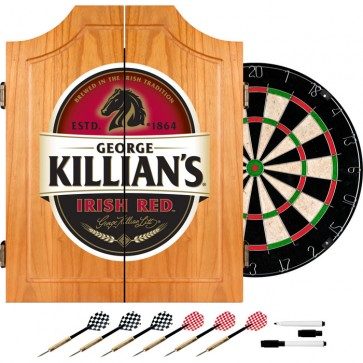 Killian's Irish Red Dart Cabinet : Dartboard w/ Darts