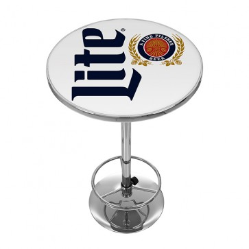 Miller Lite Vintage Logo Bar Table