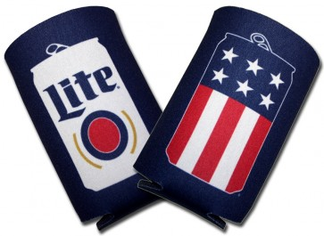 Miller Lite USA Beer Can Collapsible Koozies