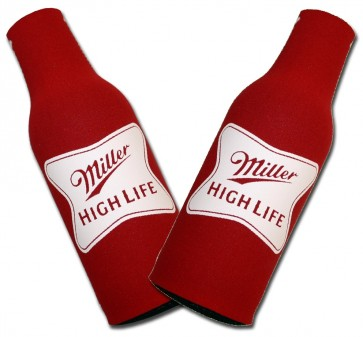 Miller High Life Stamped Bottle Suit Coozie Set