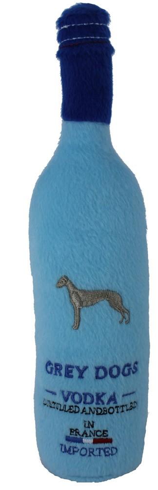 Grey Dogs Vodka Bottle Dog Toy : Plush Squeaker
