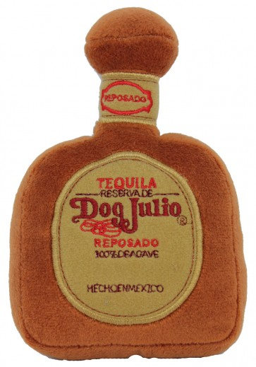 Dog Julio Tequila Bottle Dog Toy : Plush Squeaker