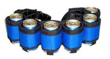 Beer Belt : Blue 6 Pack Beer Holster