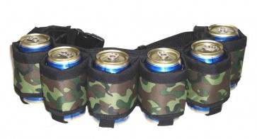 Beer Belt : Camo 6 Pack Beer Holster