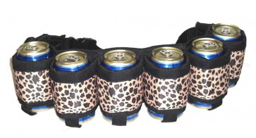 Beer Belt : Leopard 6 Pack Beer Holster