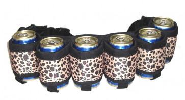 Beer Belt : Leopard 6 Pack Beer Holster