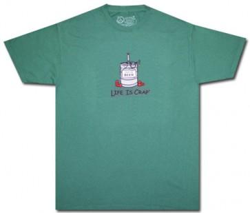 "Life Is Crap ""Empty Keg"" T Shirt"