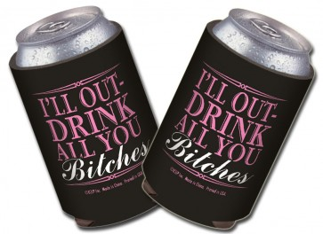 Beer Coozies : Out-Drink You Collapsible Coolie Set