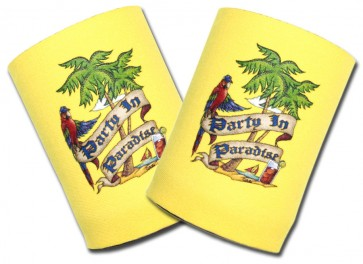 Beer Coozies : Party In Paradise Can Cooler Set