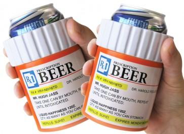 Prescription Bottle Koozie Set
