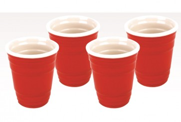 Red Cup Shot Glasses Set : Party Shots
