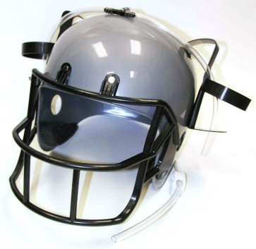 Beer Helmet : Silver Drinking Football Helmet