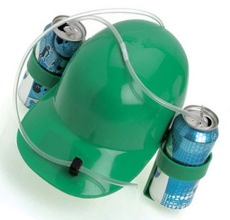 Irish Green Beer Drinking Helmet